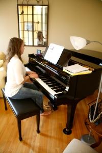 Emma on piano